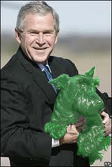 President Bush's green dog