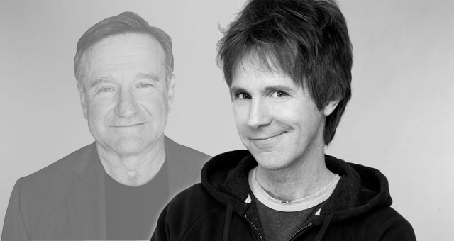 Is Robin Williams communicating with Dana Carvey in his dreams?