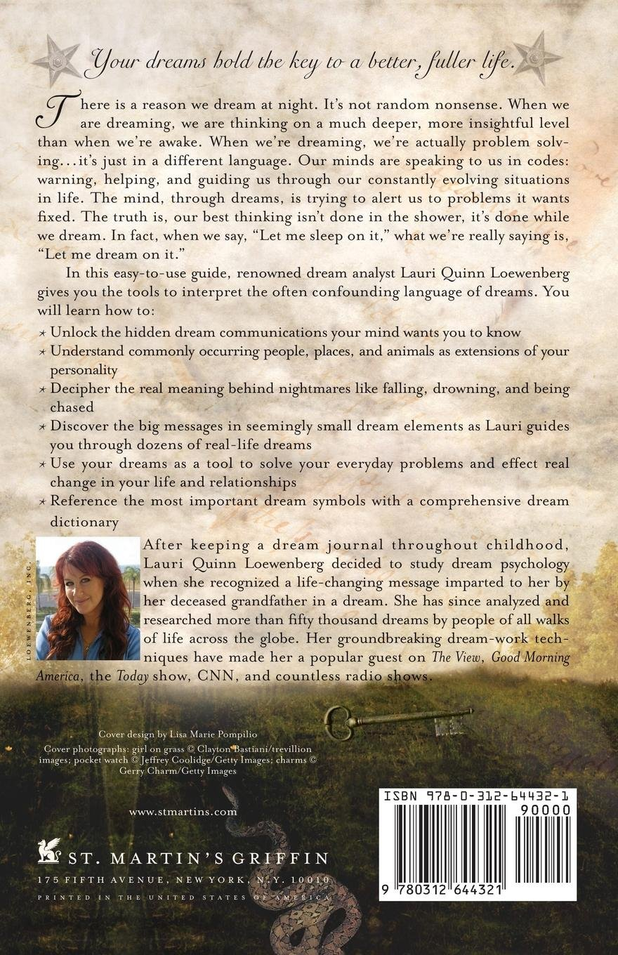 Dream On It back cover written by dream expert Lauri Loewenberg